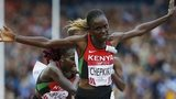 Chepkirui of Kenya takes first place in the 10,000m final