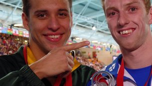 chad le clos and daniel wallace