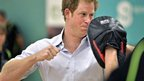 Prince Harry sparring