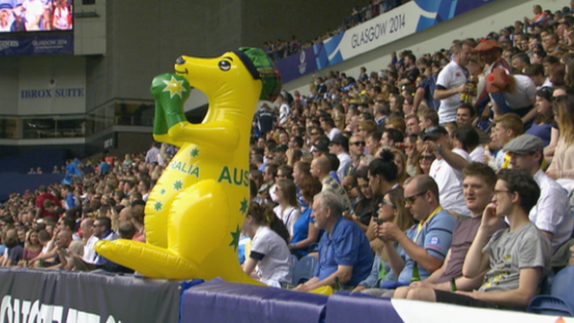 Spectators at the Commonwealth Games
