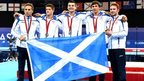 Scotland's Commonwealth silver-winning men's gymnastics team of Daniel Keatings, Frank Baines, Adam Cox, Liam Davie and Daniel Purvis