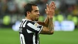 Carlos Tevez celebrates after Juventus beat Atalanta BC 1-0 - 5 May 2014