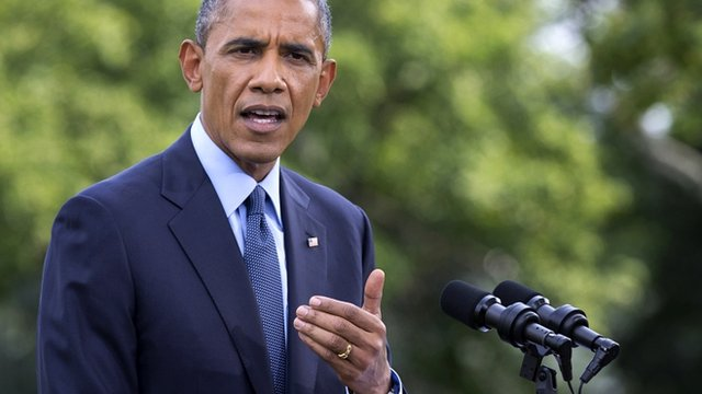 US President Barack Obama speaks to press at the White House - 29 July 2014