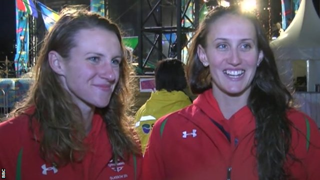 Wales' Jazz Carlin and Georgia Davies are back in training straight away after winning gold at Glasgow 2014