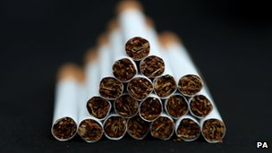 A pile of cigarettes