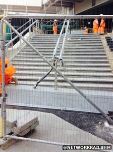 Bham New St steps July 2014