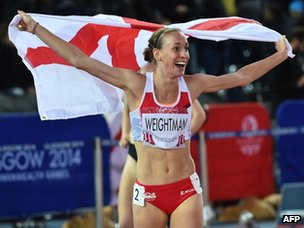 Laura Weightman celebrates