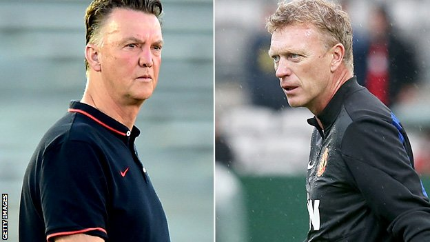 Louis van Gaal and David Moyes