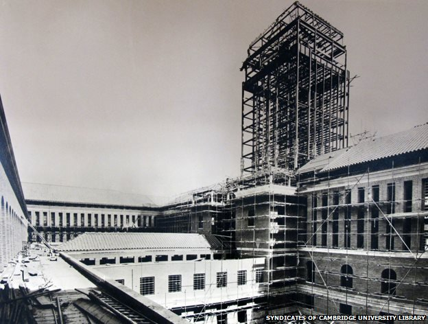 The South Court of the University Library takes shape by Burnard Geen