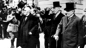 Georges Clemenceau, Woodrow Wilson and David Lloyd George
