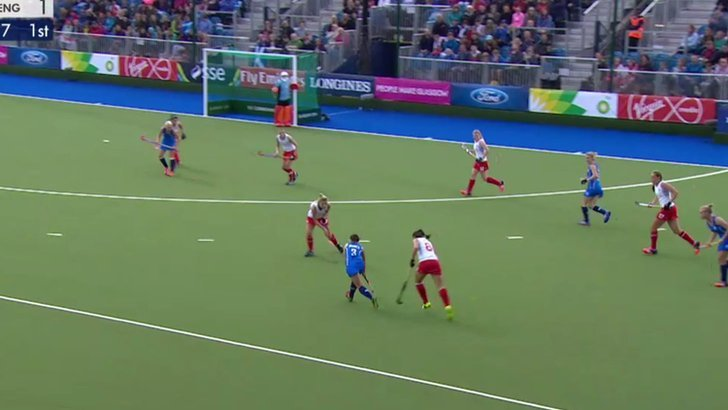 Scotland play England at hockey