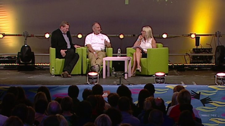 Sir Steve Redgrave and Matthew Pinsent speak to the BBC's Jane Douglas