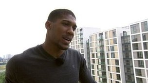 Anthony Joshua returns to the Olympic Village where he stayed during the 2012 Games