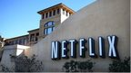 Netflix logo outside building