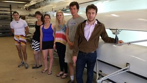 Some of the student rowers