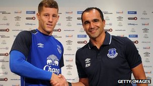Ross Barkley and Roberto Martinez