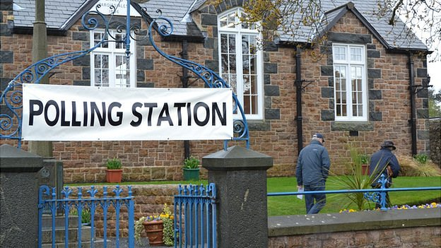 Polling station in St Martin's Parish for the 2012 election