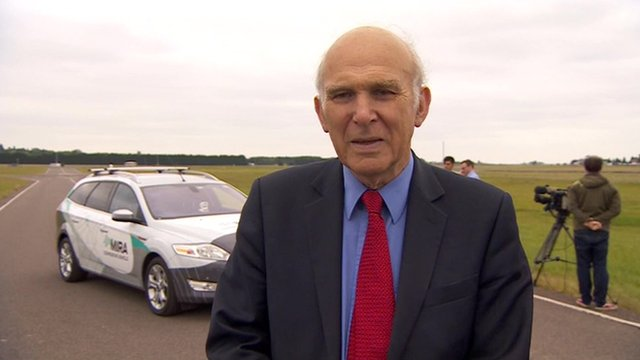 VIDEO: Cable 'felt safe' in driverless car...