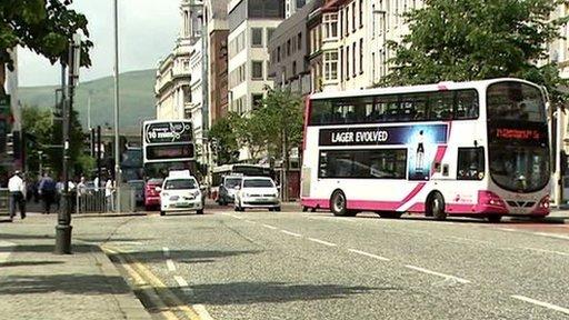 City centre traffic
