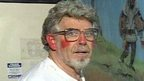 Rolf Harris with Theatre Royal mural