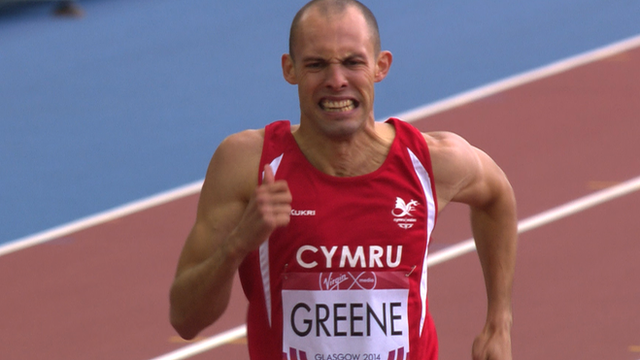 Wales' Dai Greene fails in 400m hurdles
