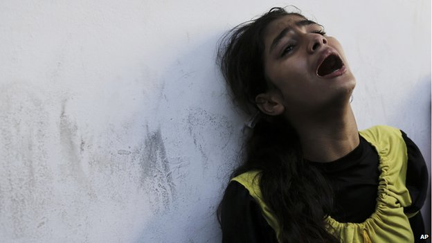 Palestinian girl after Beit Hanoun attack