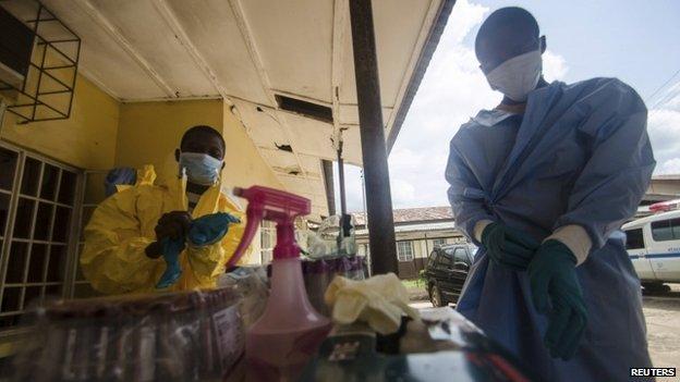 Medical staff at Kenema Hospital, Sierra Leone