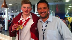 Adam Peaty and Ed Dawes