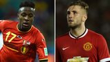 Divock Origi and Luke Shaw