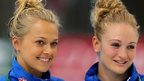England divers Tonia Couch and Sarah Barrow.