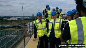 Boris Johnson in Barking Riverside