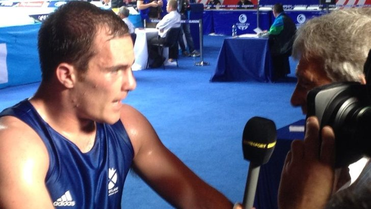Stephen Lavelle speaks to BBC Sport's John Inverdale after reaching the 91kg boxing semi-finals. He is one happy man!