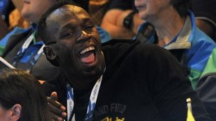 Usain Bolt at the SECC