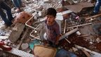 Site of damaged school in Gaza, 30 July