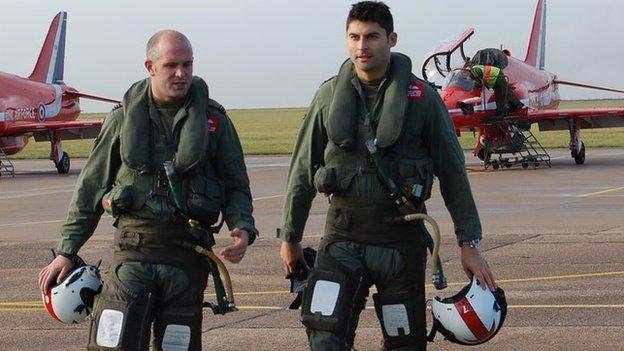 Flt Lt Mike Ling and Flt Lt Dave Montenegro
