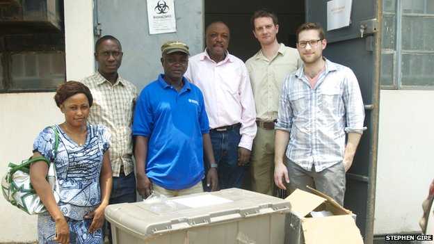 Dr Khan and team from Kenema hospital in Sierra Leone before Ebola outbreak