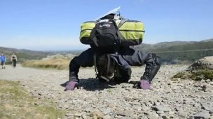 Stuart Kettell believes it will take him four days to reach the 1,066m (3,500ft) summit.