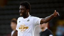 Wilfried Bony in action for Swansea City