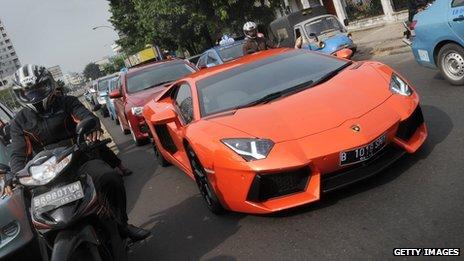 A Lamborghini in Jakarta