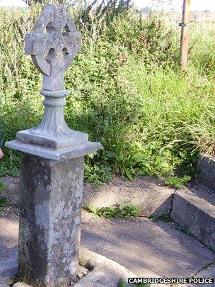 Saxon Cross at Sutton Crossways near Peterborough