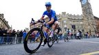 Scotland's David Millar riding in Glasgow last year