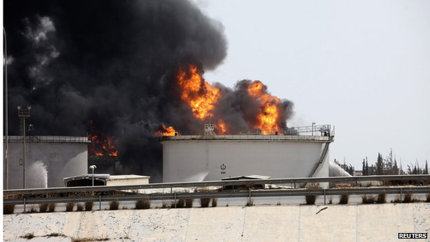 Fuel depot blaze in Tripoli