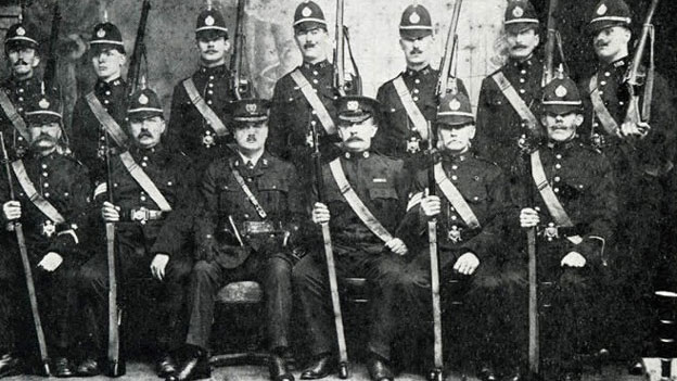 How the old Newport constabulary used to look