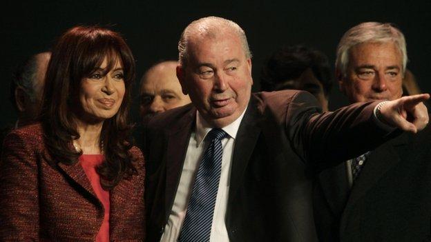 Julio Grondona with President Kirchner Aug 2009