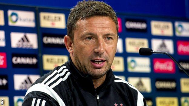 Derek McInnes is preparing for Aberdeen against Real Sociedad