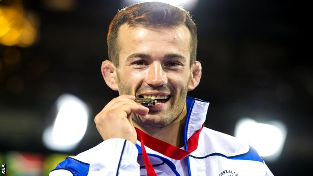 Viorel Etko won bronze for Scotland