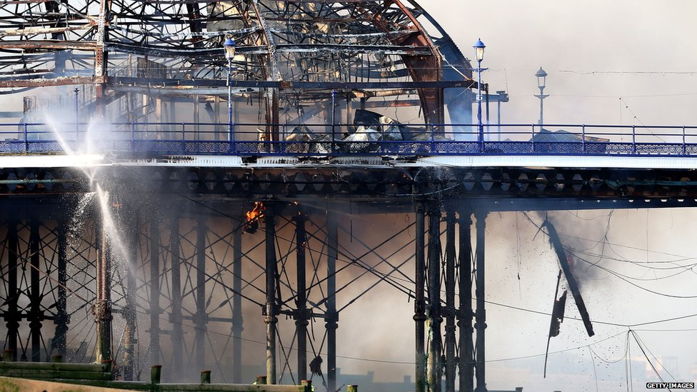 Part of Eastbourne pier has been destroyed by fire