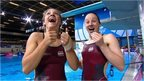 England divers Alicia Blagg and Rebecca Gallantree at the 2014 Commonwealth Games in Glasgow