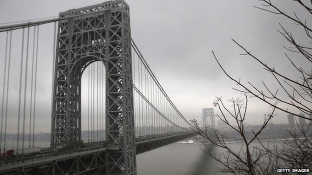 The George Washington Bridge on 17 December 2013