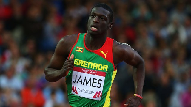 Grenadian sprinter Kerani James wins men's 400m gold